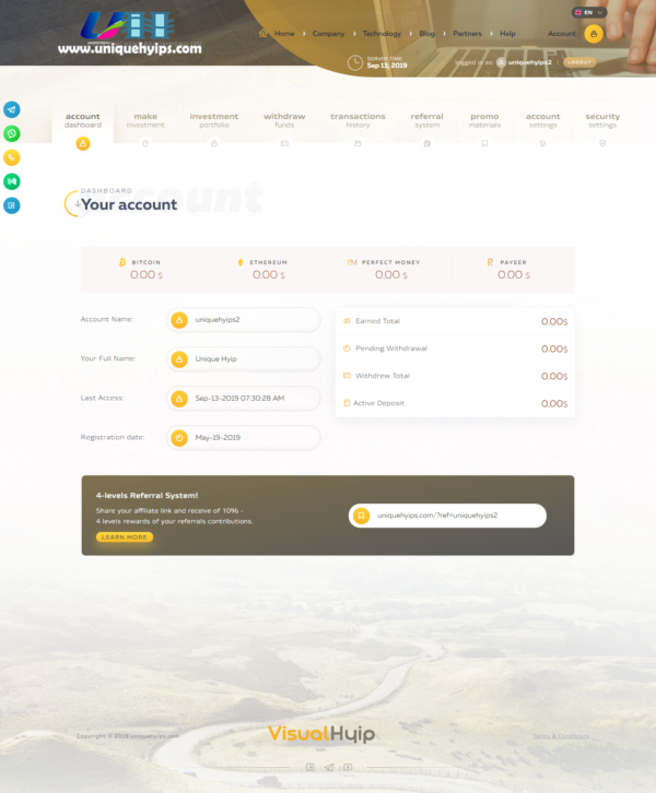 goldcoders hyip template